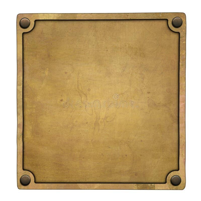 Etiqueta de bronce imagen de archivo libre de regalías