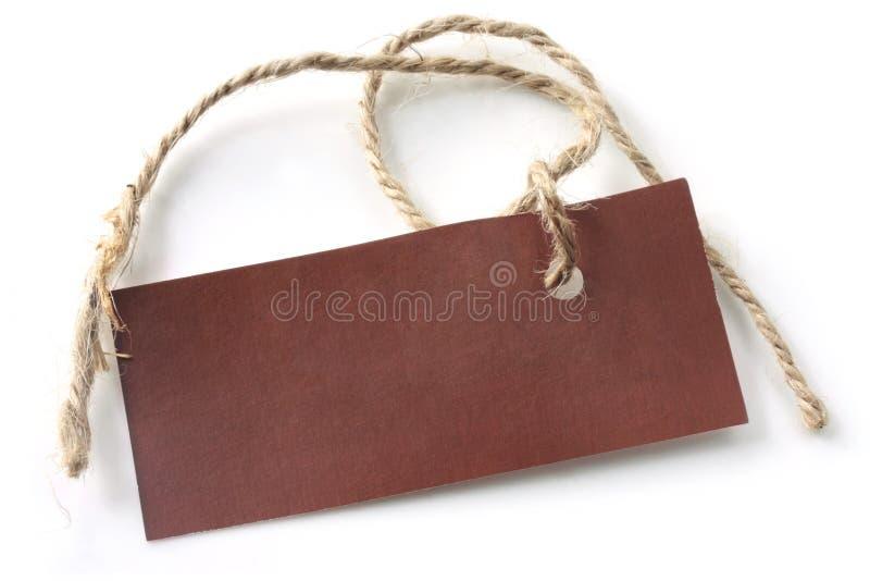 Etiqueta de Brown con la cadena fotos de archivo libres de regalías