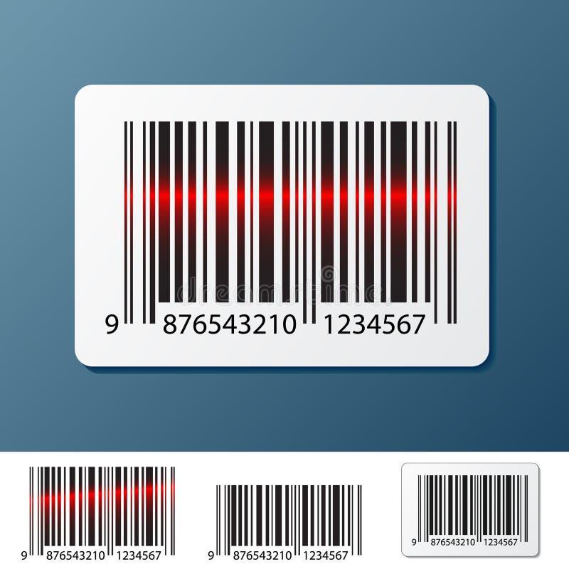 Etiqueta de código de barras ilustração do vetor