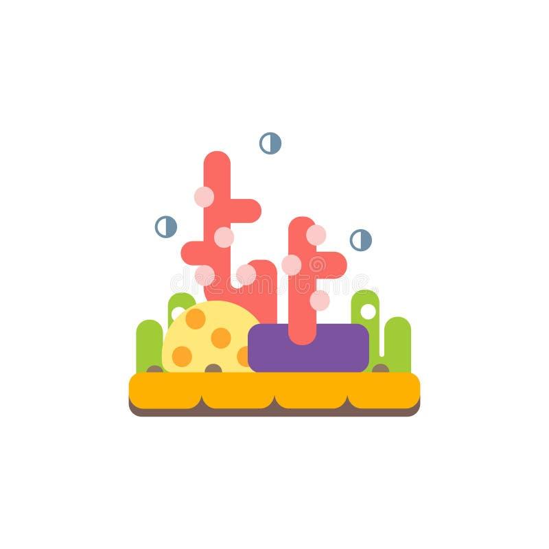 Etiqueta de Coral Reef Primitive Style Childish ilustração stock