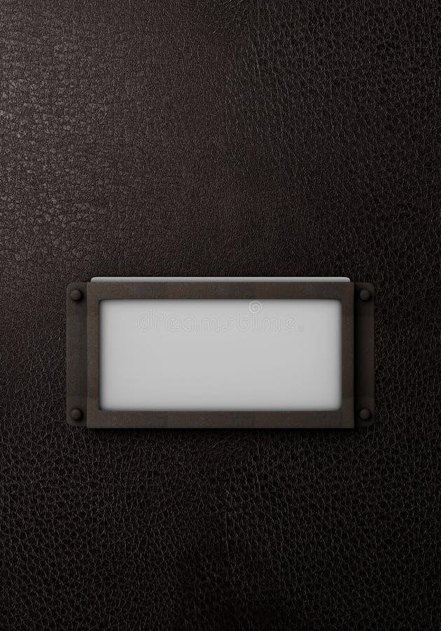Etiqueta de couro do dobrador do vintage ilustração stock