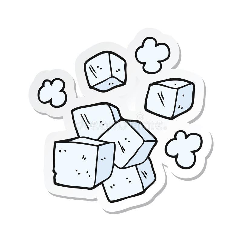 Cubos De Gelo Dos Desenhos Animados Ilustracao Do Vetor