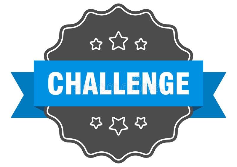 etiqueta de desafio ilustração do vetor