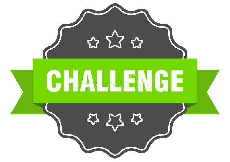 etiqueta de desafio ilustração royalty free