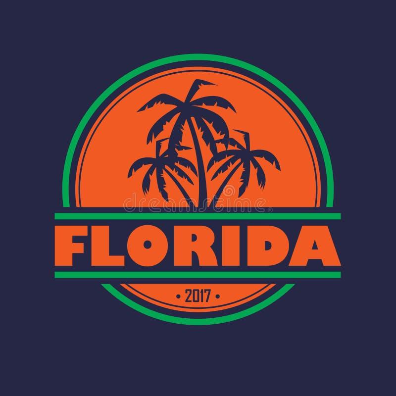 Etiqueta de Florida 2017 ilustração stock