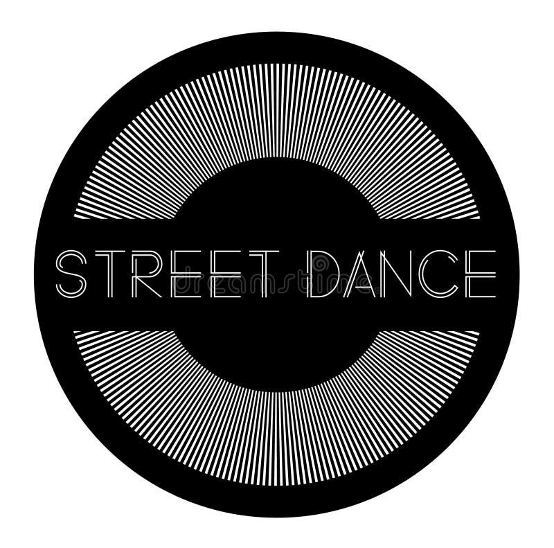 Etiqueta de la danza de la calle stock de ilustración