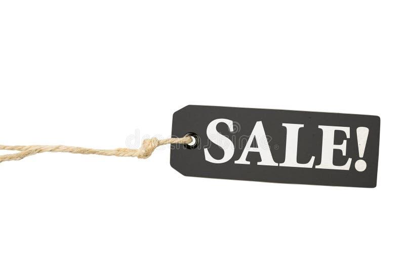 Etiqueta de la escritura de la etiqueta de la venta imagen de archivo libre de regalías