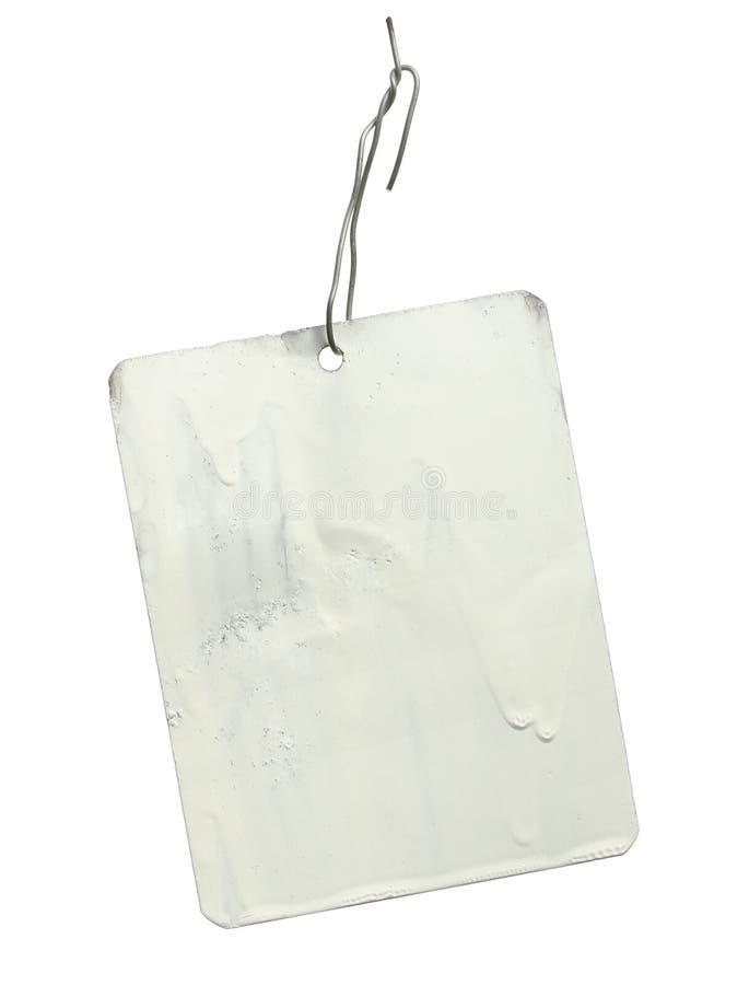 Etiqueta de la etiqueta del metal fotografía de archivo libre de regalías