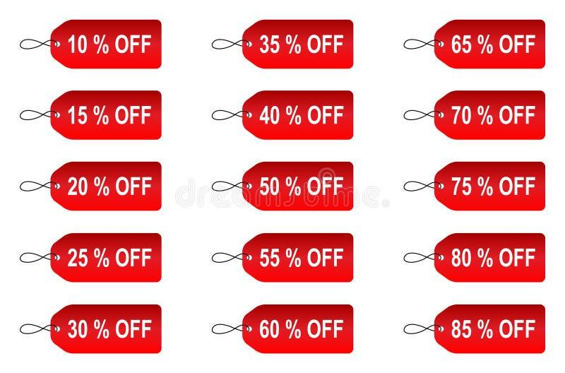 Etiqueta de la oferta stock de ilustración