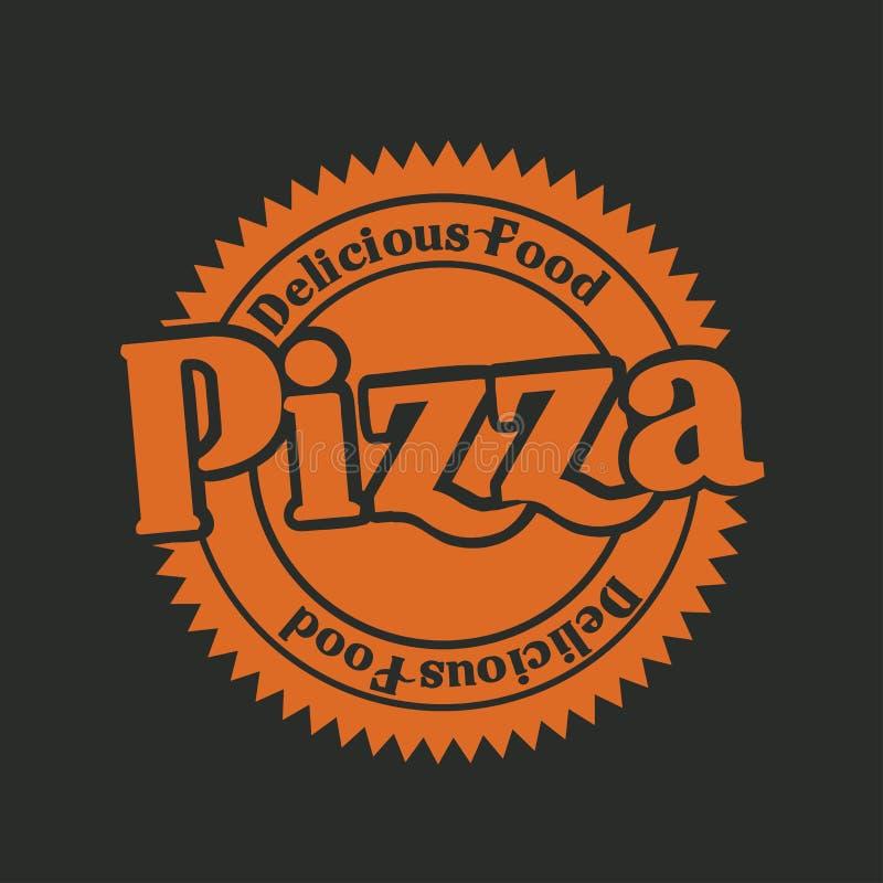 Etiqueta de la pizza libre illustration