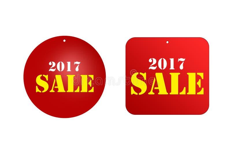 Etiqueta de la reducción del precio de venta para los descuentos 2017 fotos de archivo libres de regalías