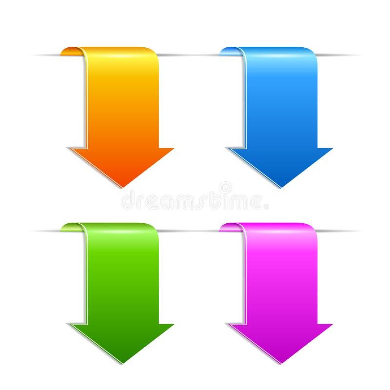 Etiqueta de la señal de la flecha ilustración del vector
