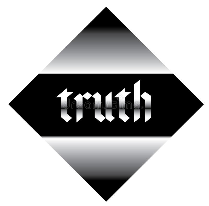 Etiqueta de la verdad ilustración del vector