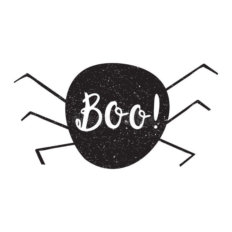 Etiqueta de las capas de Halloween con citas dentro ilustración del vector