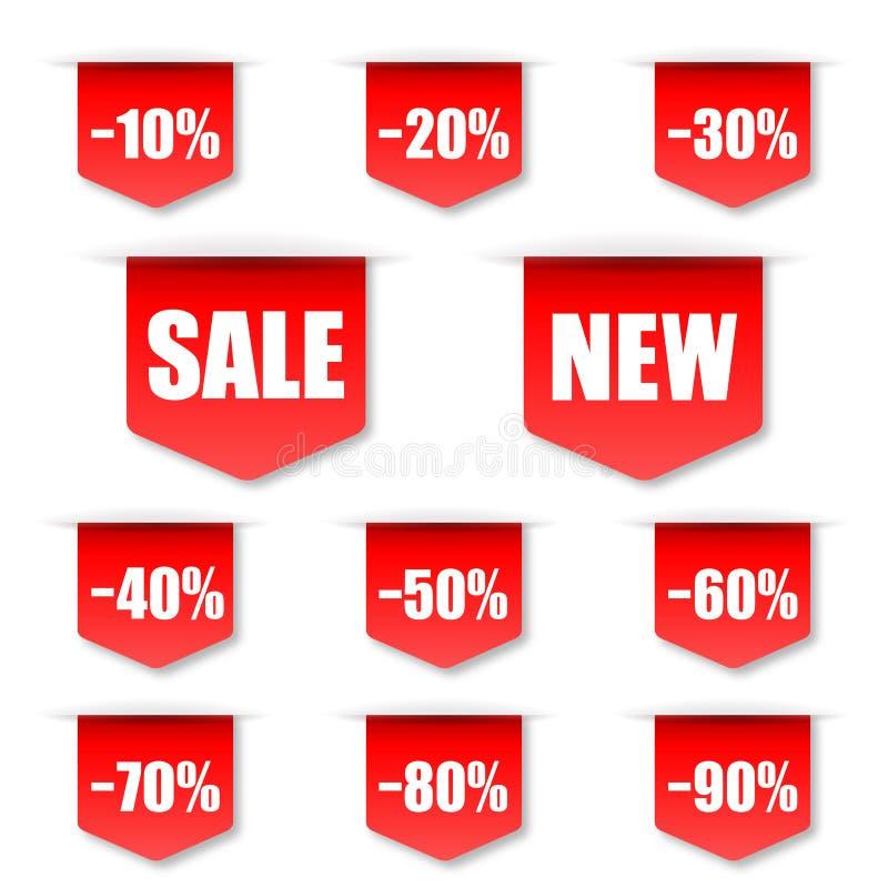Etiqueta de las ventas ilustración del vector