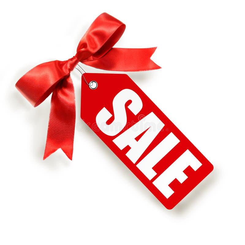 Etiqueta de las ventas aislada en blanco foto de archivo