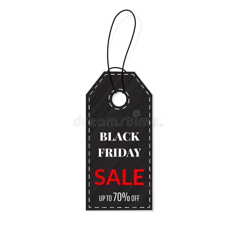 Etiqueta de las ventas de Black Friday vector, agrupado para corregir fácil Venta, descuento, publicidad, precio del márketing ilustración del vector