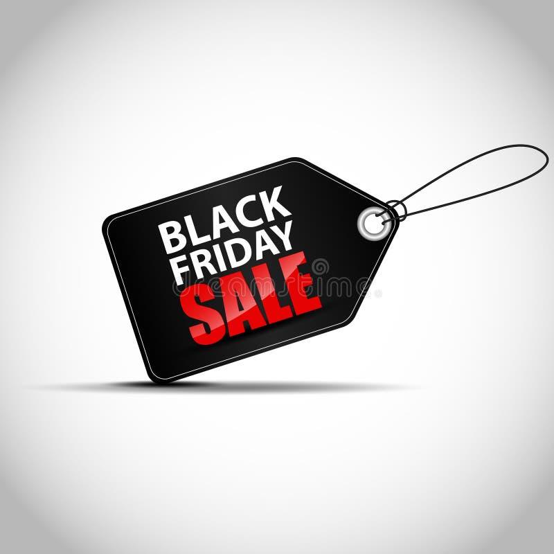 Etiqueta de las ventas de Black Friday stock de ilustración