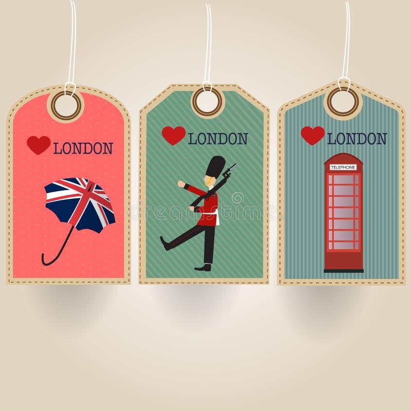 Etiqueta de Londres ilustração stock