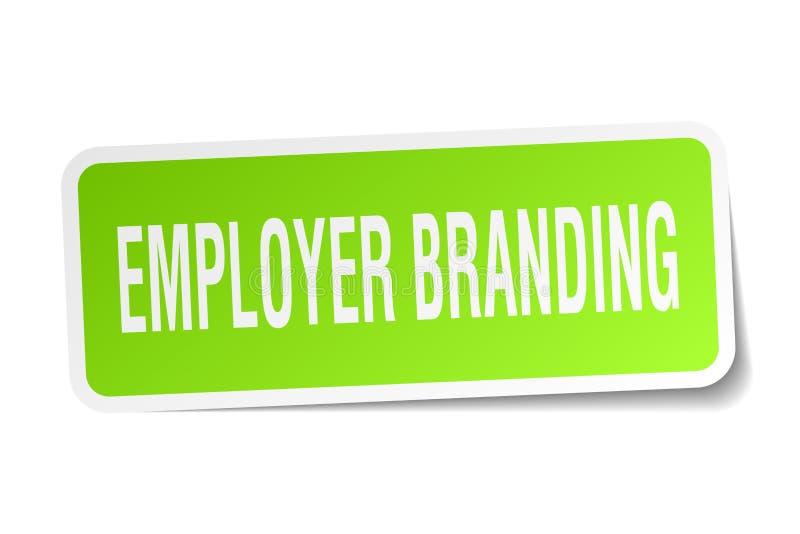 etiqueta de marcagem com ferro quente do empregador ilustração stock