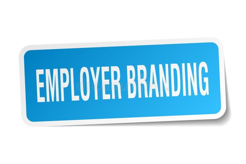 etiqueta de marcagem com ferro quente do empregador ilustração do vetor