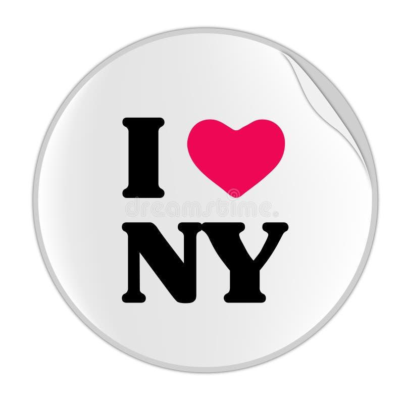 Etiqueta de New York do amor (SÉRIES da ETIQUETA) ilustração royalty free