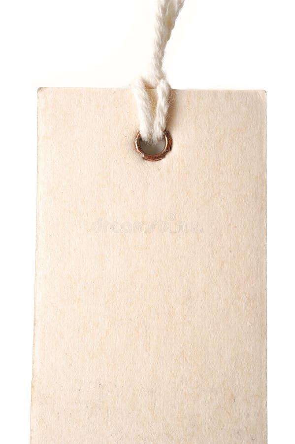Etiqueta de papel imagen de archivo libre de regalías