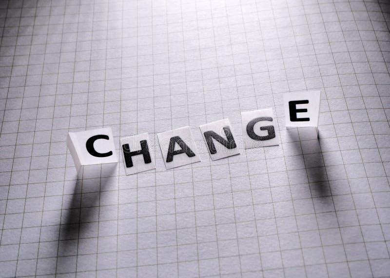 Etiqueta de papel del cambio imagenes de archivo