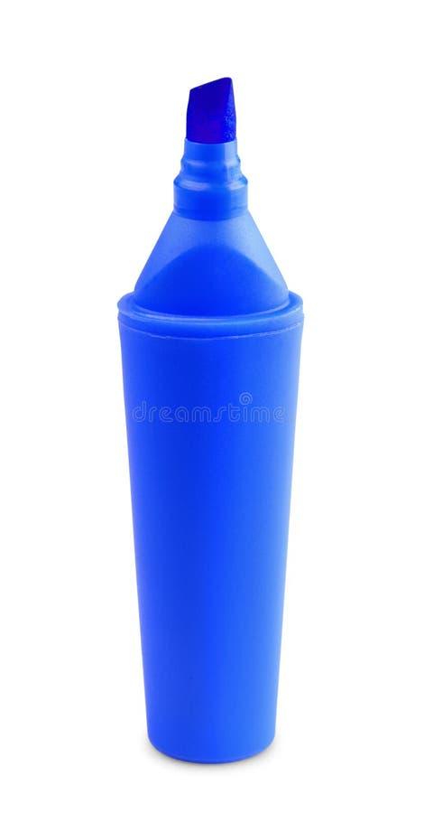 Etiqueta de plástico azul imagen de archivo