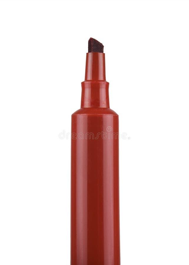 Etiqueta de plástico de la extremidad del fieltro del rojo fotografía de archivo libre de regalías