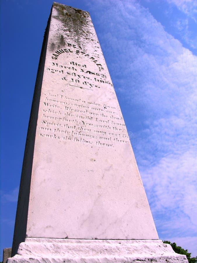 Etiqueta de plástico del entierro de la vendimia. foto de archivo