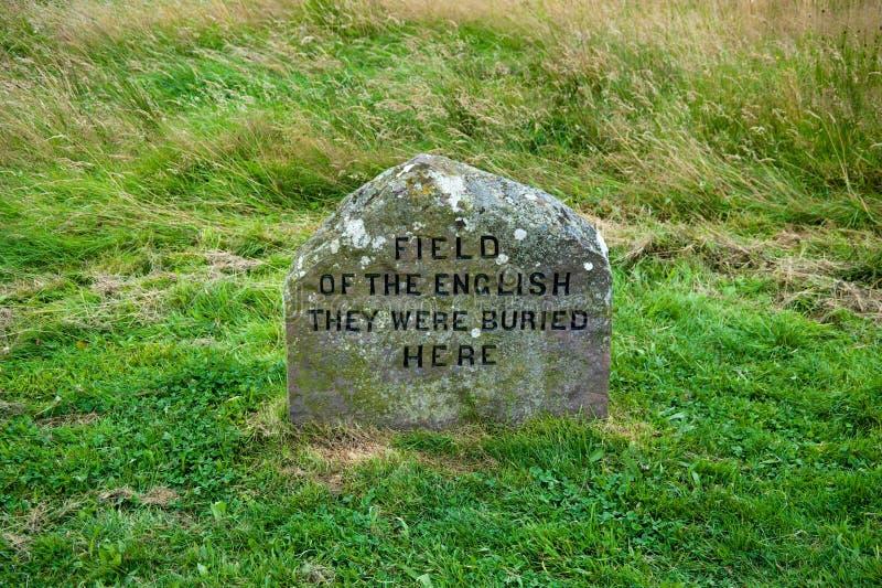 Etiqueta de plástico del sepulcro de Culloden imagen de archivo libre de regalías