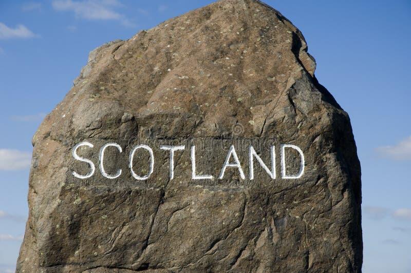 Etiqueta de plástico escocesa de la frontera imágenes de archivo libres de regalías