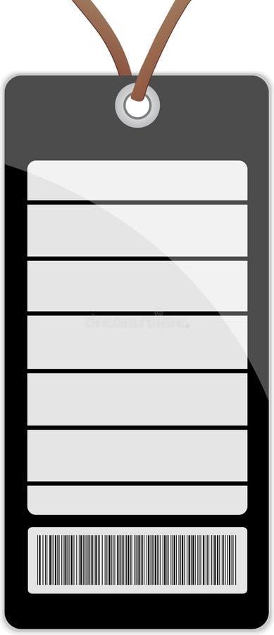 Etiqueta de preço em branco ilustração royalty free