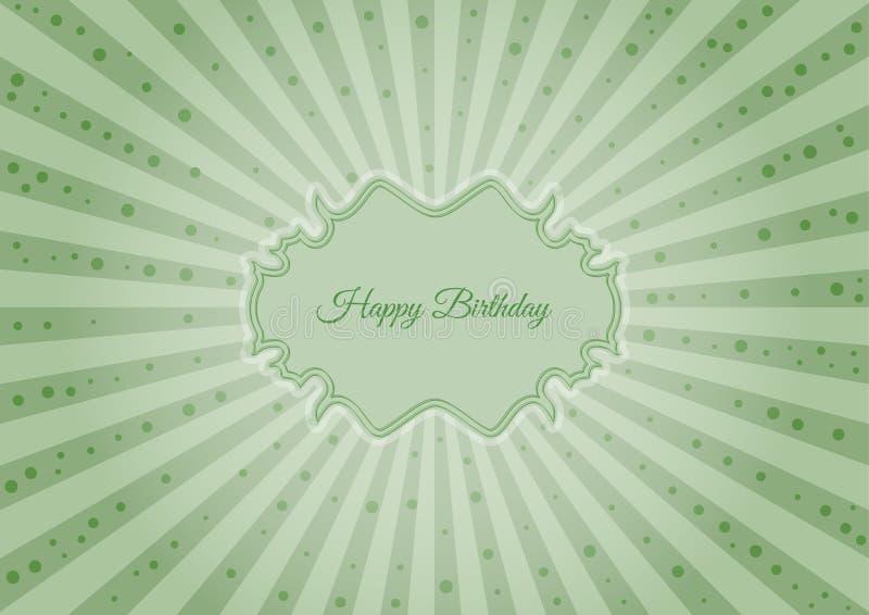 Etiqueta decorativa do aniversário ilustração royalty free