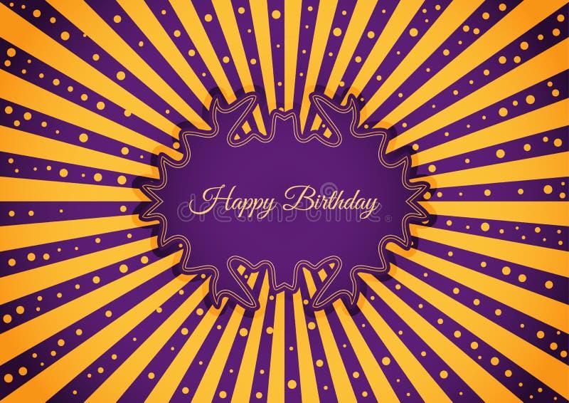 Etiqueta decorativa do aniversário ilustração stock