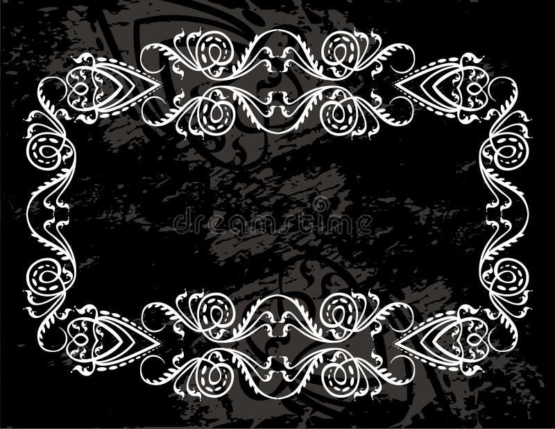 Etiqueta decorativa do grunge ilustração royalty free