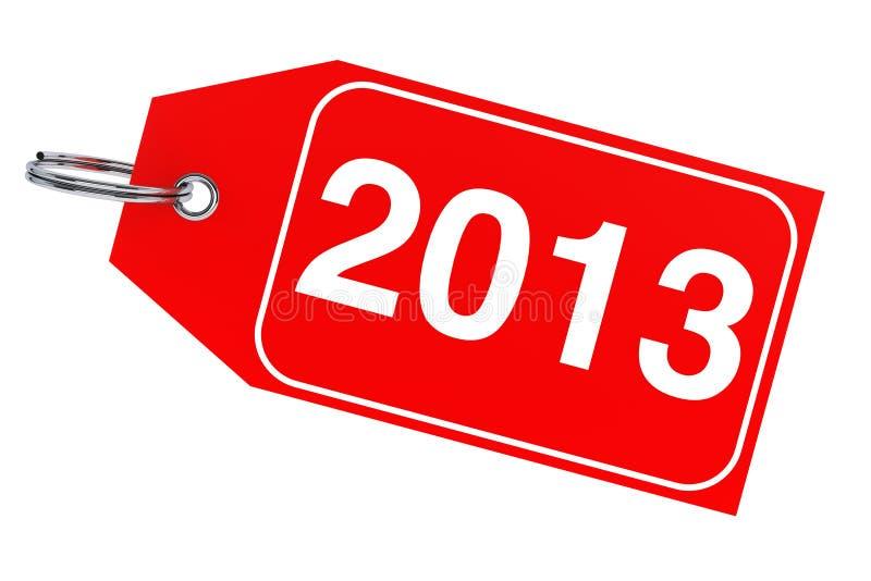 Etiqueta del Año Nuevo 2013 stock de ilustración