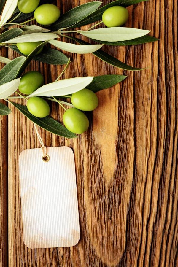 Etiqueta del aceite de oliva imagen de archivo libre de regalías