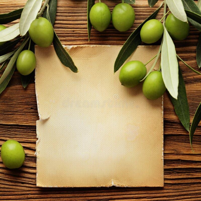 Etiqueta del aceite de oliva fotos de archivo libres de regalías