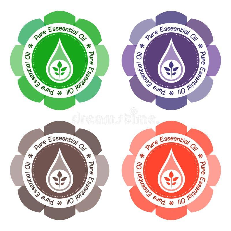 Etiqueta del aceite esencial stock de ilustración