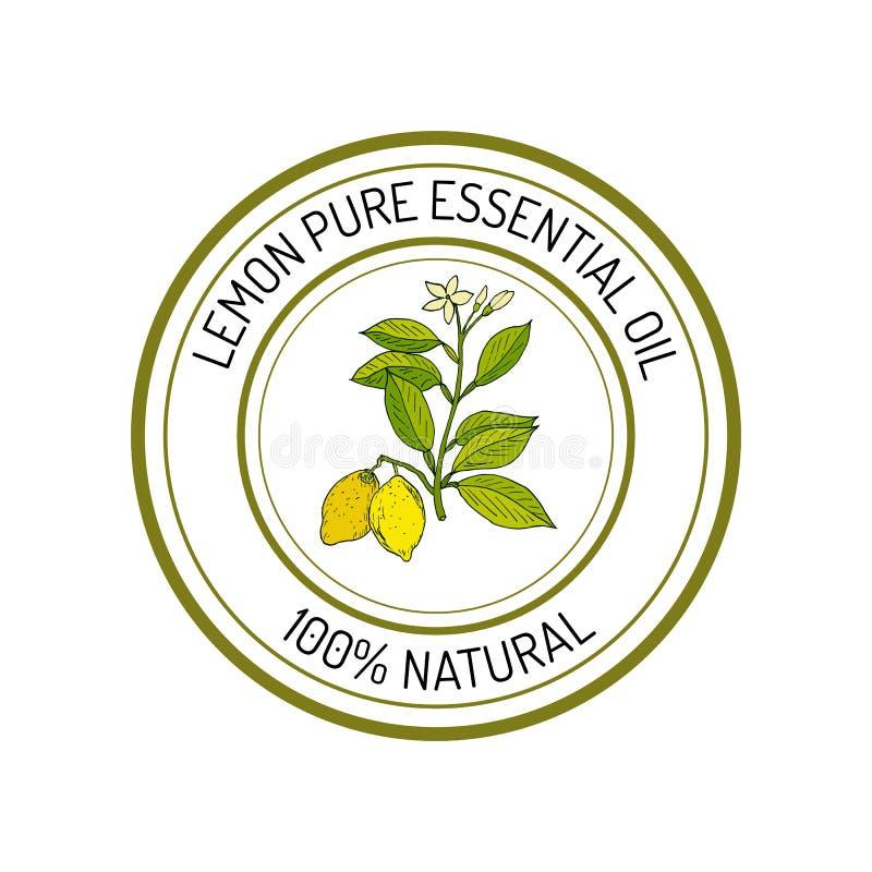 Etiqueta del aceite esencial libre illustration