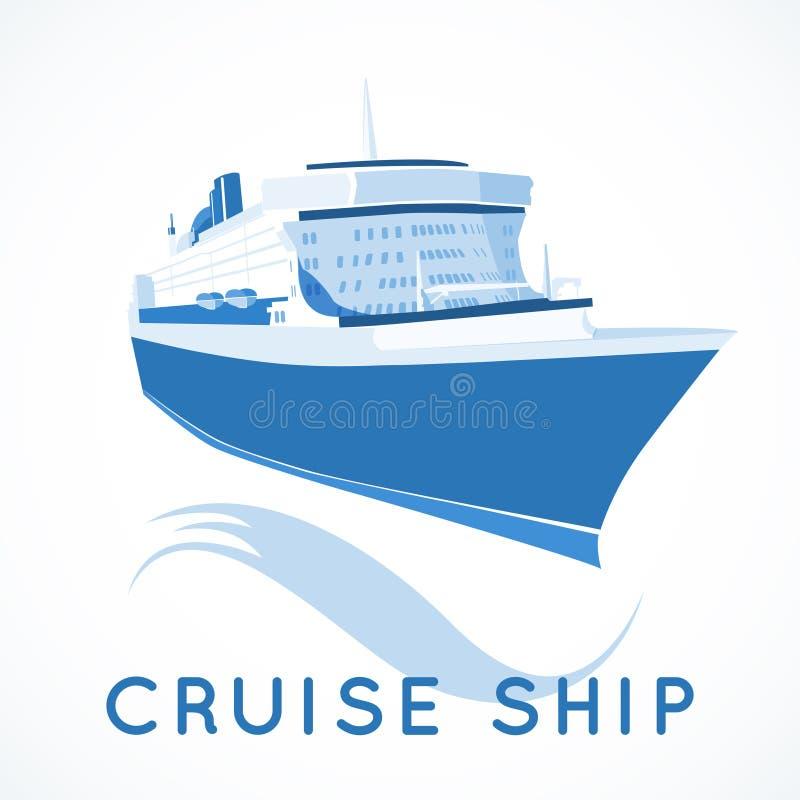 Etiqueta del barco de cruceros libre illustration