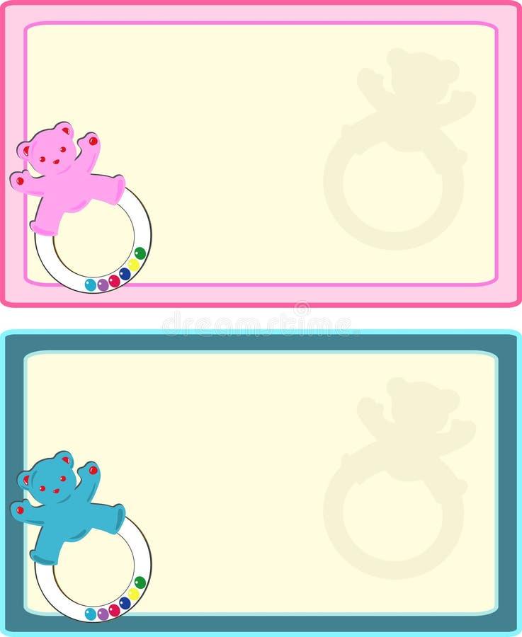Etiqueta del bebé ilustración del vector