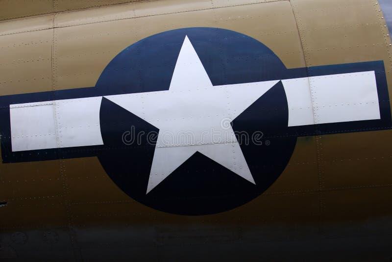 Etiqueta del bombardero B17 fotos de archivo libres de regalías