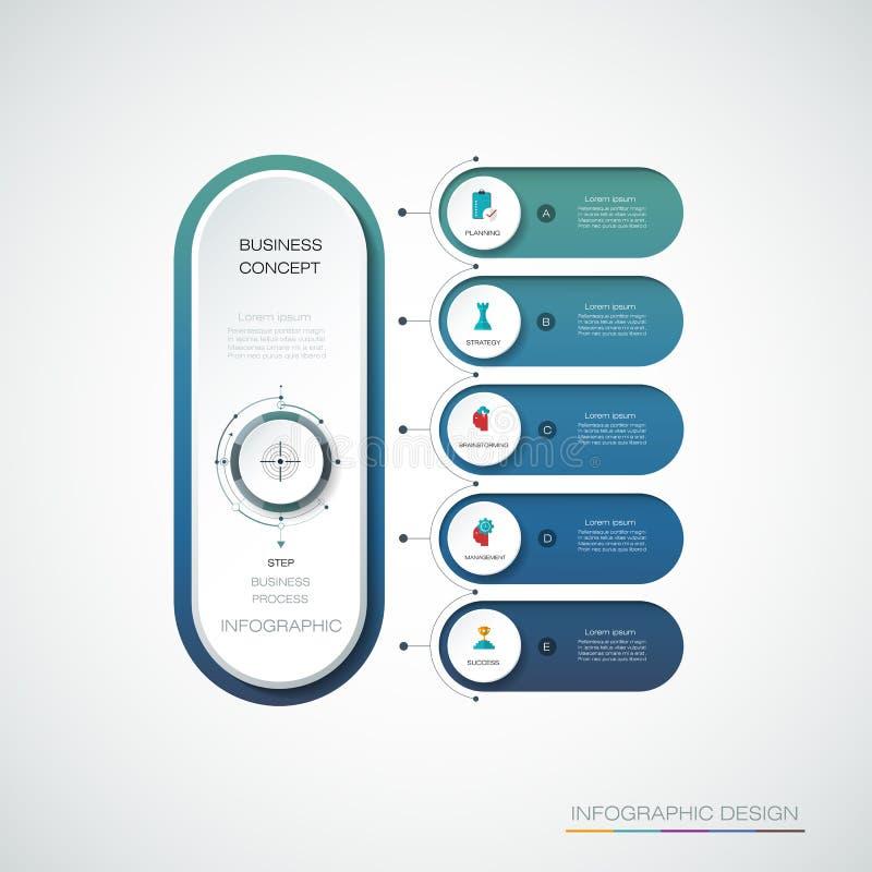 Etiqueta del círculo de Infographic 3d del vector, diseño de la plantilla ilustración del vector