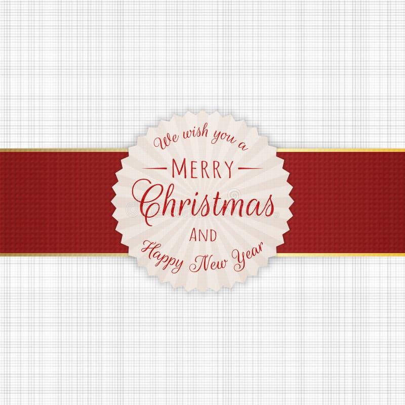 Etiqueta del círculo de la Feliz Navidad stock de ilustración