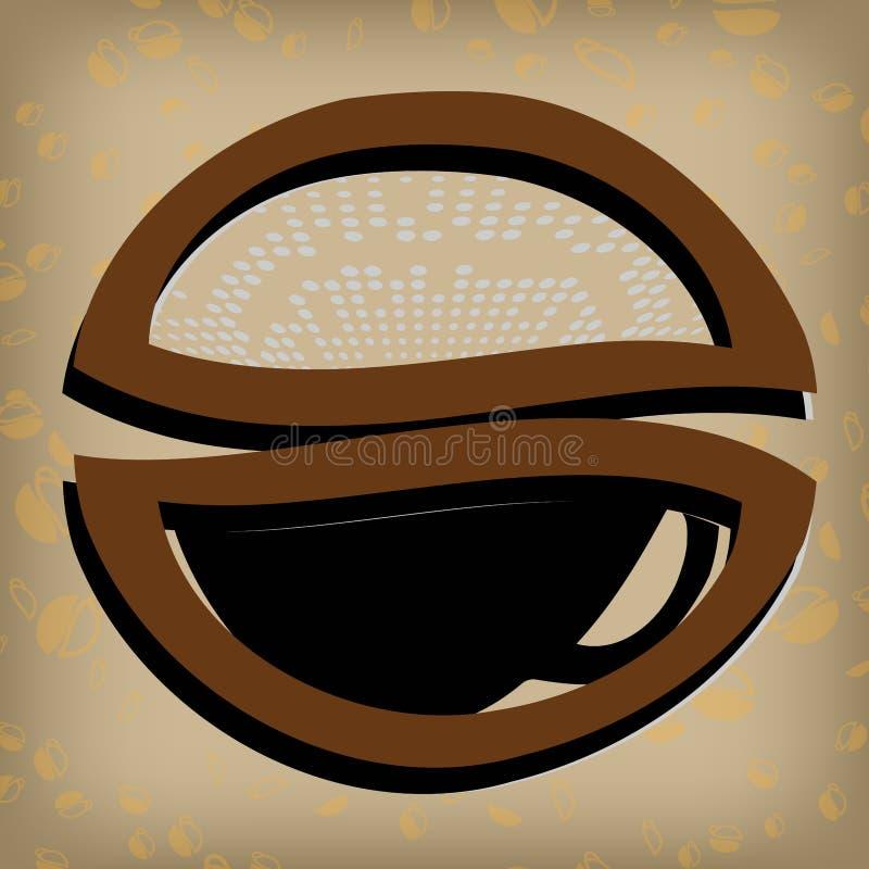 Etiqueta del café del oro stock de ilustración