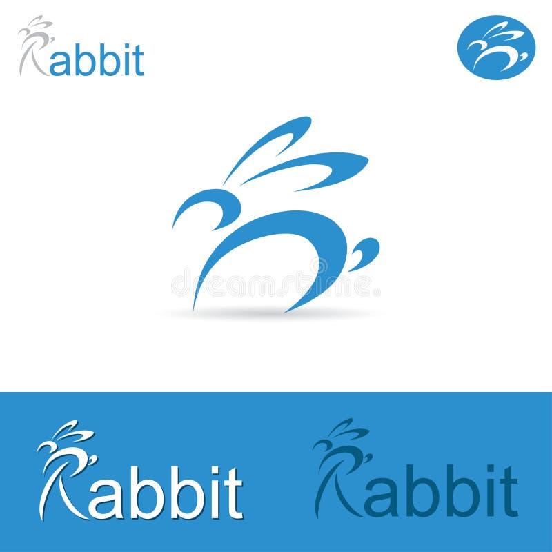 Etiqueta del conejo stock de ilustración