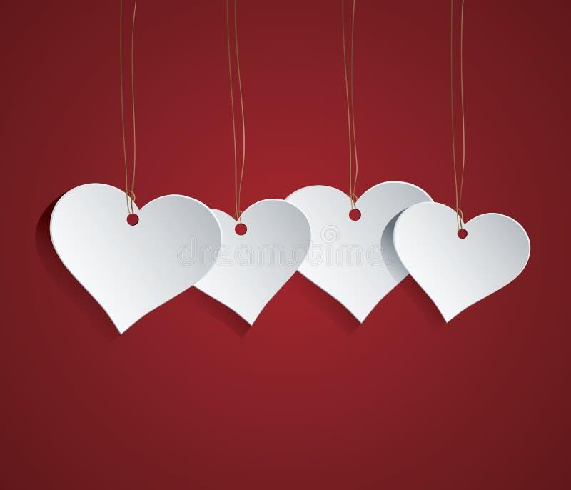 Etiqueta del corazón stock de ilustración